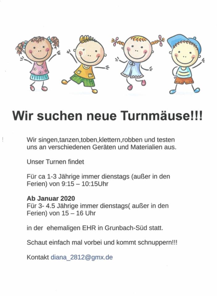 Plakat Eltern-Kind-Turnen